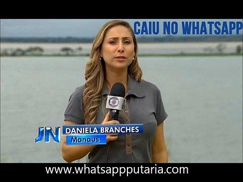 Daniela Branches jornalista gostosa caiu no whatsapp