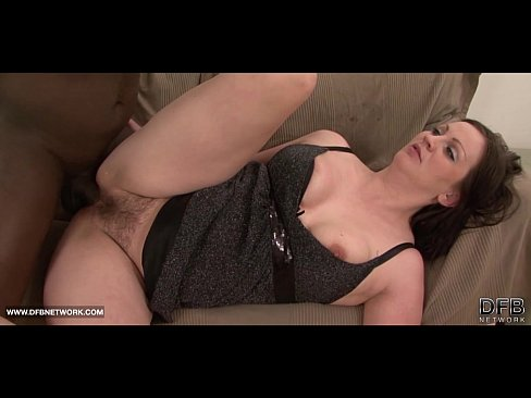 Chubby brunette hairy pussy down for some black cock fucking