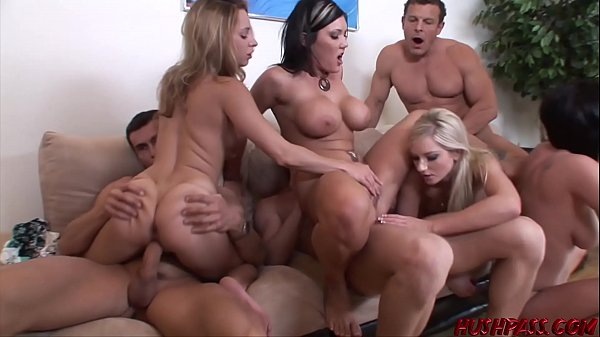 Nubile babes Lindsey and Nikki fed cock and banging orgy